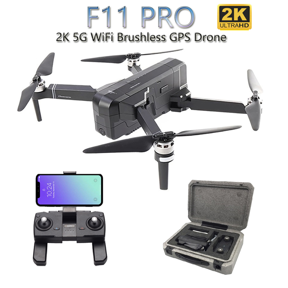 SJRC F11 PRO 5G WiFi RC Drone GPS Foldable Drones With 2K Camera HD Brushless Quadcopter Drone 28 Mins Flight Time VS F11 SG906 image