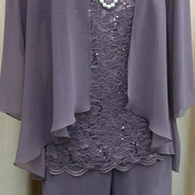 women 3 pieces lace chiffon mother of the bride dre