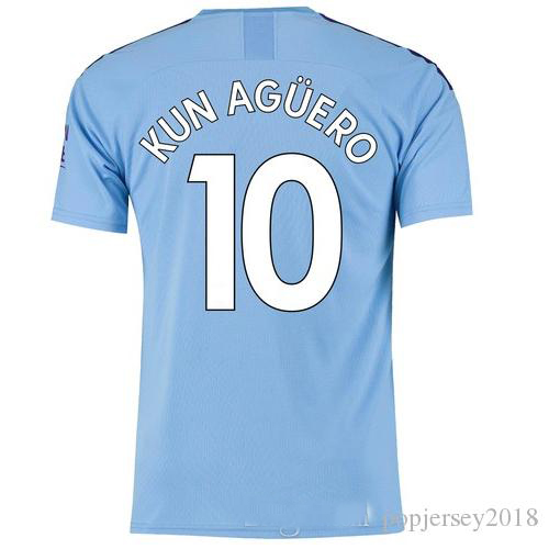 detailed look 4757b ccb78 US $20.0 |Hot sale 2019 2020 patch manchesting city adult soccer jersey DE  BRUYNE KUN AGUERO 19 20 football shirt size S 4XL Free Shipping-in T-Shirts  ...