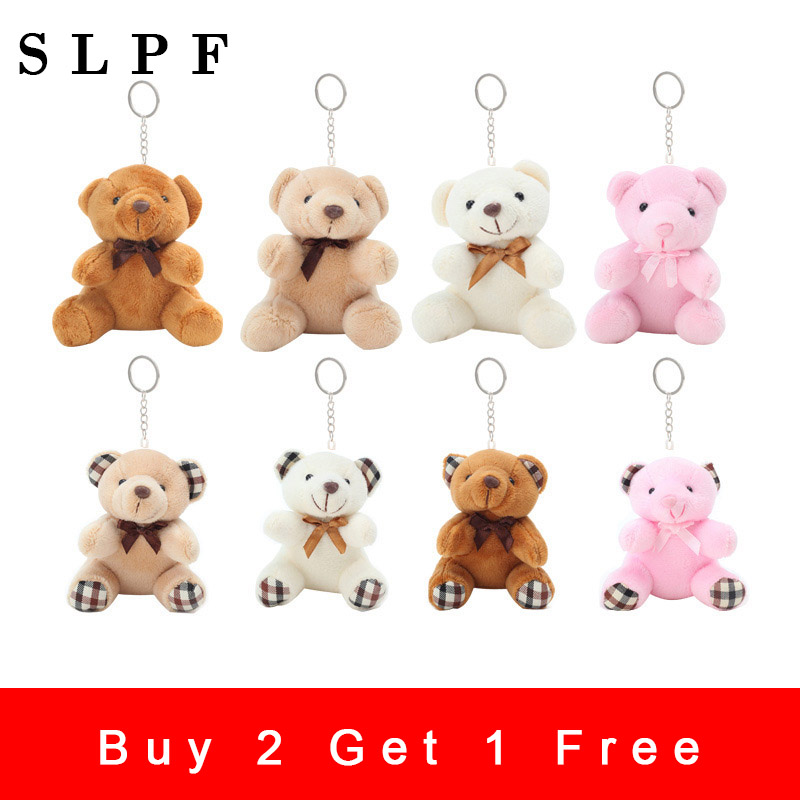 Plush Keychain Bear Pendant Plush Toys Cartoon Bouquet Wedding Activity Children Birthday Gift Boy Kids Girl Animal Doll New Q21