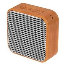Mini Altavoz Bluetooth portátil A70 de grano de madera altavoz inalámbrico Vintage con soporte de micrófono TF tarjeta Radio FM para teléfono móvil