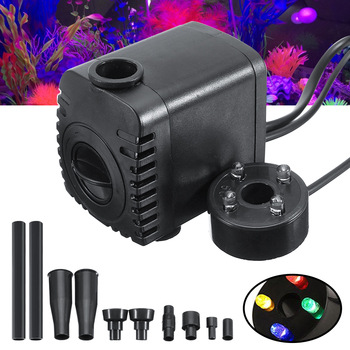 8W LED Light Garden Fountain Pump For Fish Tank Filter Garden Pool Pond Fountain Waterfall Submersible Aquarium Water Pump 15w submersible water pump with led light for garden aquarium fish tank pond fountain pump