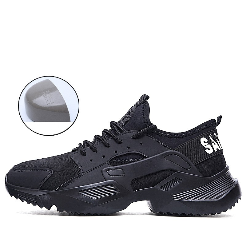 Dropshipping Men's Steel Toe Cap Safety Boots Ultra-light Soft Bottom Breathable Anti-smashing Work Shoes Casual Sneaker For Men