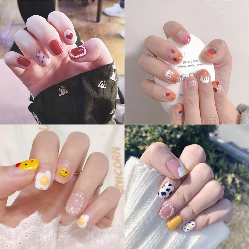 22tips/sheet Toe Nail Stickers Waterproof Fashion Wraps Art Full Cover Adhesive Foil Manicure Decals
