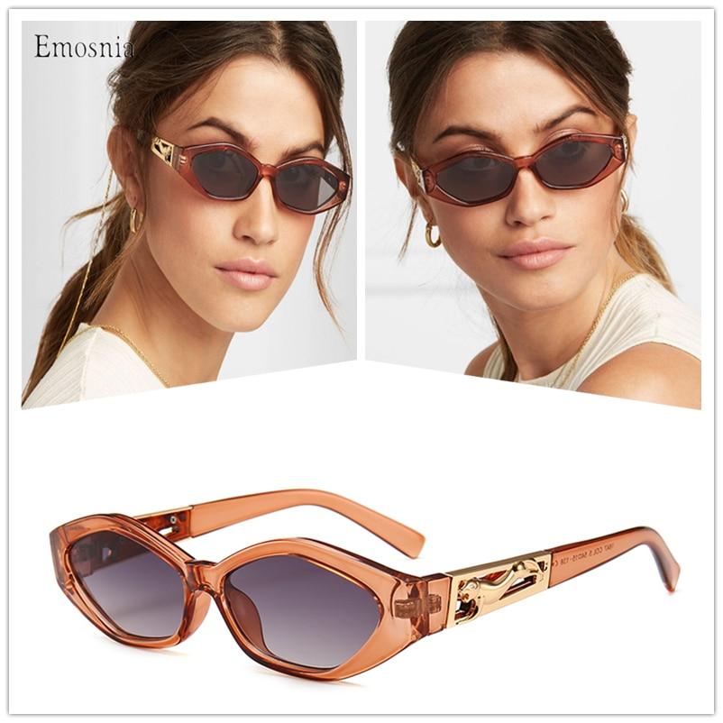 Gafas De Sol ovaladas con forma De polígono para mujer, anteojos De Sol femeninos pequeños, De diseñador De marca De lujo, Estilo Vintage, redondos, Retro, para conducir