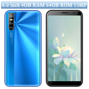 6.0inch Screen 9C 13MP Smartphones Face id 4GB RAM 64GB ROM Global Mobile Phones Quad Core Android unlocked Cellphones celulares