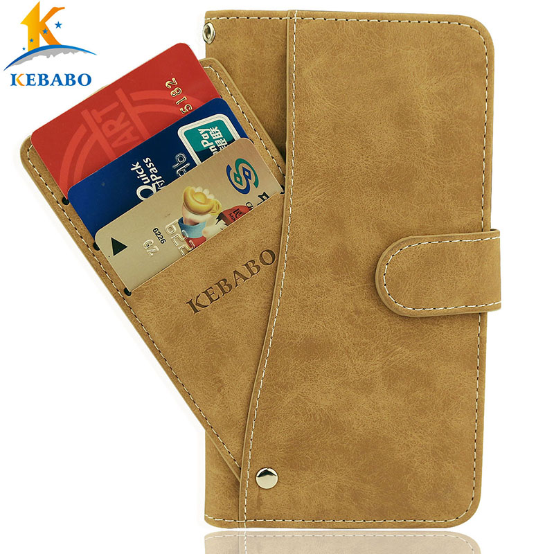 Leather Wallet <font><b>teXet</b></font> <font><b>TM</b></font>-<font><b>5083</b></font> Pay 5 3G Case 5