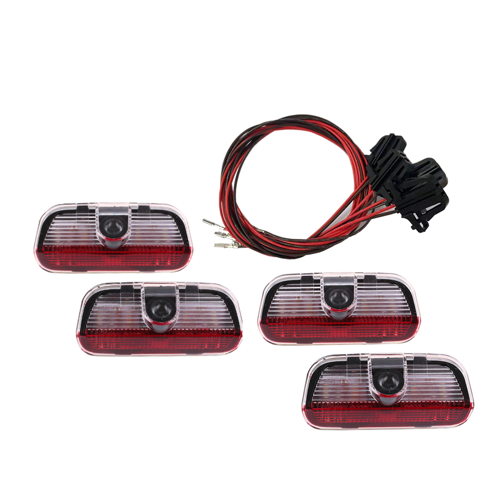 4 Pcs LED Door 3D Shadow Car Light Logo Auto Lamp With Projection Function For VW TIGUAN CC Golf MK6 For JETTA MK5 PASSAT B6 B7