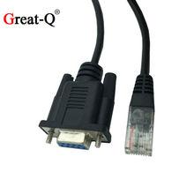 Cable adaptador de red para consola Cisco RJ45 hembra a Rs232 DB9 COM Puerto hembra serie 1,5 m