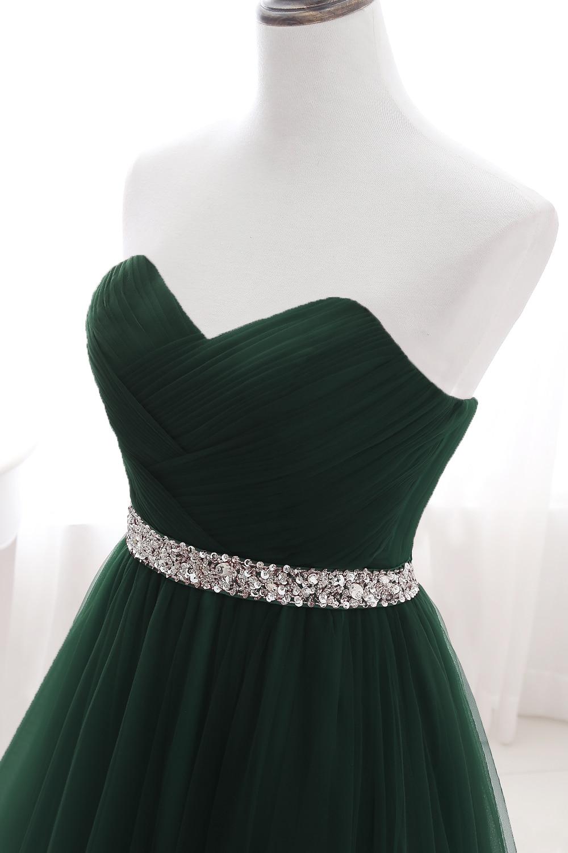 Длинные вечерние платья Королевского синего цвета 2020 без бретелек