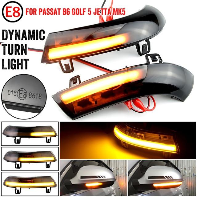 Acqua Blink Dinamica Che Scorre Lato Specchio LED Indicatori di Direzione Luce Per VW Passat B5.5 B6 R36 R32 Jetta MK5 Golf 5 GTI Sharan SuperB