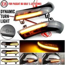 Water Blink Dynamic Flowing Side Mirror LED Turn Signal Light For VW Passat B5.5 B6 R36 R32 Jetta MK5 Golf 5 GTI Sharan SuperB