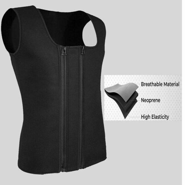 Men Slim Shaper Neoprene Belt Sport Vest Sweating For Fat Burning Waist Trainer Men's Corset Vest 2