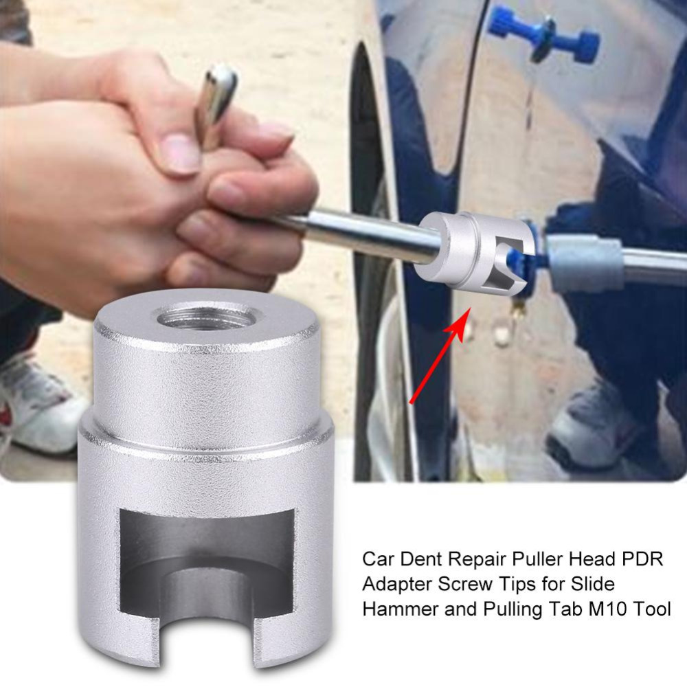 Car Dent Repair Puller Head Pai Ntless Dent Repair Hail Removal Kit Adapter Screw For Slide Hammer & Pulling Tab Repair Tool