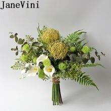 Свадебный букет jaevini в западном стиле для зеленых невест