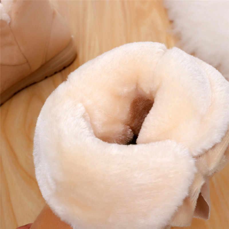Caldo di Nuovo Modo di Pelliccia Femminile Della Caviglia Caldo Stivali Donna Stivali Bowknot Stivali Da Neve di Autunno E di Inverno Scarpe Da Donna Appartamenti di Scarpe NO1