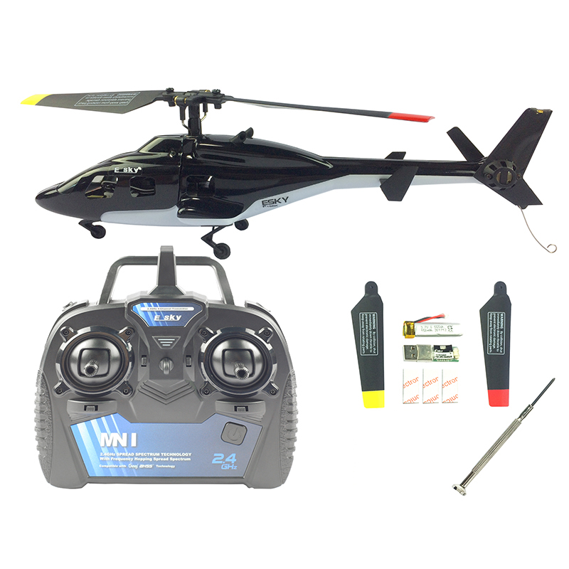 ESKY F150 V2 5CH 2.4G AHSS 6 Axis Gyroscope Flybarless System Dual Rate Black RC Helicopter Model Toys w/ CC3D Flight Control(China)