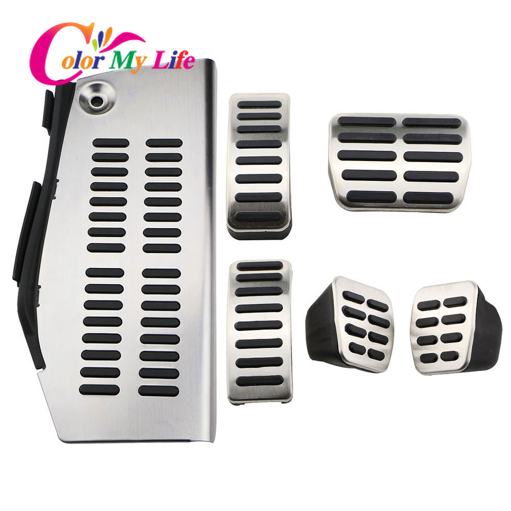 LHD Car Pedals for Volkswagen Polo Vw Golf 4 Bora Beetle RSi GTI R32 for Audi A3 SEAT Leon 1M Toledo 1L Pad Foot Rest Pedal IT