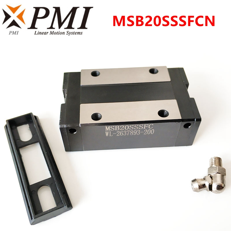 Original Taiwan PMI MSB20S MSB20S-N MSB20SSSFCN Linear Guideway Slider Carriage Block For CO2 Laser Machine CNC Router