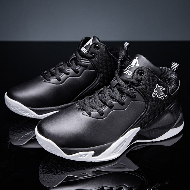 2019 autumn and winter men's basketball shoes junior high school students leather waterproof wear-resistant shock-absorbing boot 4