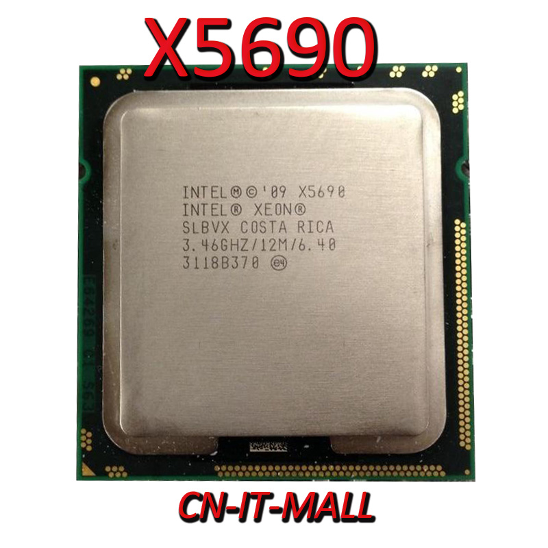 Intel Xeon X5690 CPU 3.46GHz 12MB Cache 6 Cores 12 Threads LGA1366 Processor image