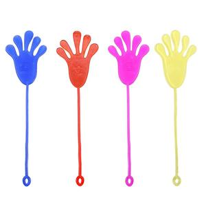 12PCS Plastic Stretchy Sticky Jelly Hands Climbing Palms Gooey Toy for Children Kids Boys & Girls Novelty Toy(China)