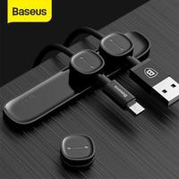 Baseus-organizador de cables magnético, Protector de cables USB, Clips de gestión de escritorio, soporte para estación de trabajo, organizador de cables de ratón