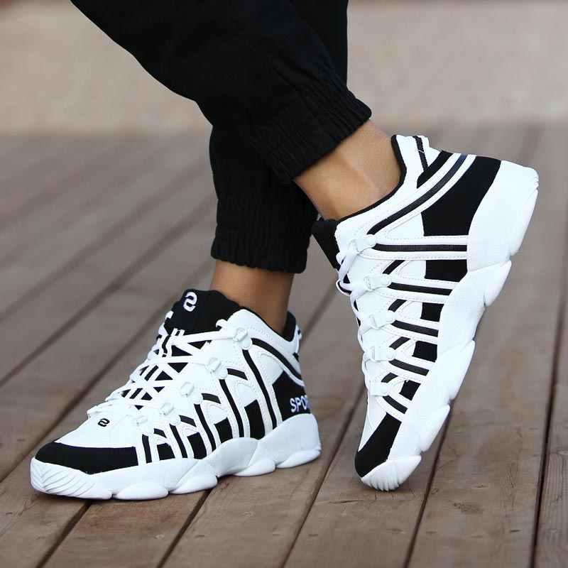 PU 革スニーカーランニングシューズスポーツ女性の靴スポーツ男性白赤メンズ運動靴ジムトレーナーワークアウト b-383