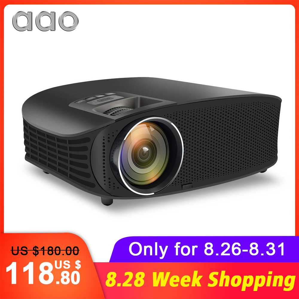 AAO HD Projector Beamer Support Home Theatre 4000 Lumens Full-Hd 1080P LCD VGA 3D HDMI