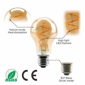 Image 3 - Âm Trần Edison Đèn 4W 2200K C35 T45 A60 ST64 G80 G95 G125 Xoắn Ốc Đèn LED Dây Tóc Bóng Đèn Retro đèn Chiếu Sáng Trang Trí