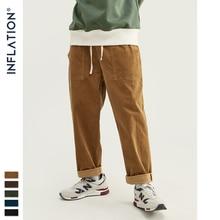 אינפלציה 2020 אוסף גברים מכנסי קזואל רחב Wale גברים קורדרוי רופפים Fit סרבל מוצק צבע גברים קורדרוי צפצף 93325 w