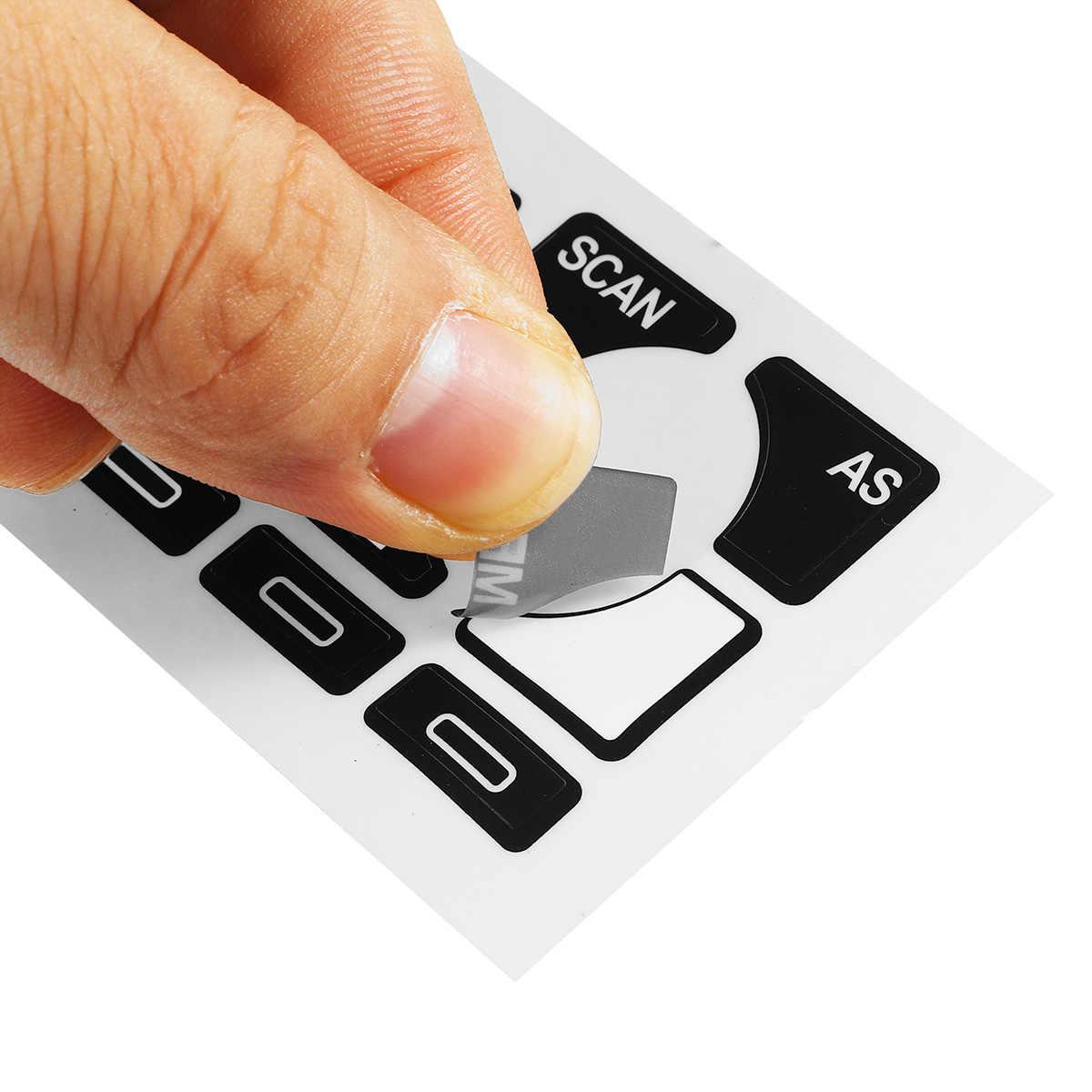 New Car Audio Radio Multimedia Stereo Usado Botão Reparação Descamação Decalques Adesivos Para Audi A4 B6 B7/A6/ a2 A3 8L/P