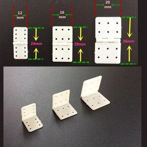 Нейлоновые и зажимные шарниры 20 шт./лот, 20х36 мм/16х29 мм/12х24 мм для замены моделей для радиоуправляемых самолётов