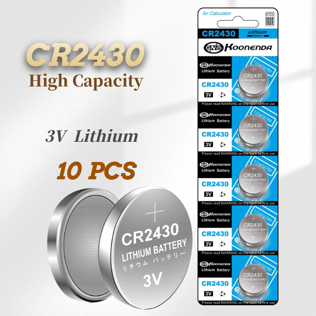 2021-New 10PCS CR2430 3V  Lithium Batteries Button Battery High-capacity Remote Control Toy  CR2430 Battery 1