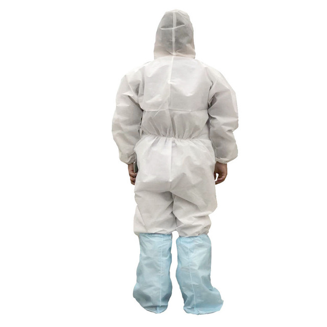 Coveralls Safety Protective Suit Workwear PPE Clothing Protection Hazmat Suit For Outdoors Hospital Laboratory Workshop 3
