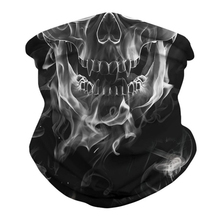 Outdoor Sun Protection Hiking Scarves Skull Cycling Bandana Halloween Summer Breathable Face Mask for Traveling Headband Unisex