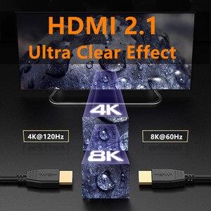 Image 4 - Fibre optique HDMI 8K 2.1 câble 48G 120HZ avec Audio vidéo HDMI cordon ultra hd HDR 4:4:4 perte amplificateur pour PS4 HDTV projecteur