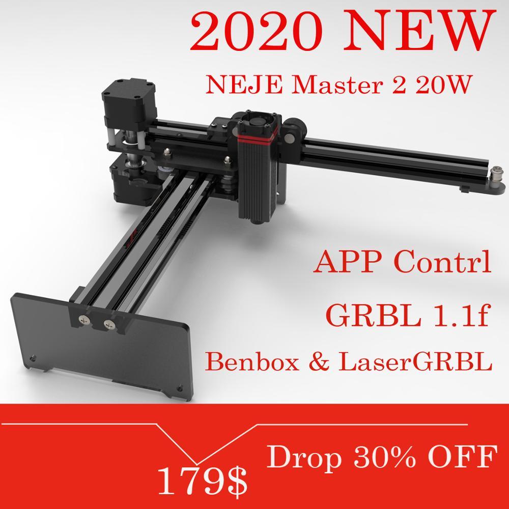 Neje master 2 20 w desktop gravador a laser e cortador-gravura a laser e máquina de corte-impressora a laser-laser cnc