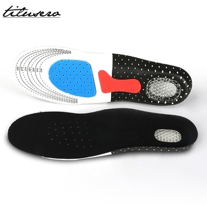 Cuttable Silicone Shoe Insoles Free Size Men Women Orthotic Arch Support Sport Shoe Pad Soft Running Insert Cushion F061