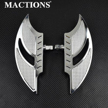 цена на Motorcycle Chrome Foot Pegs Passenger Rear Floorboard For Harley Touring Electra Glide Road King Sportster 883 1200 XL Dyna