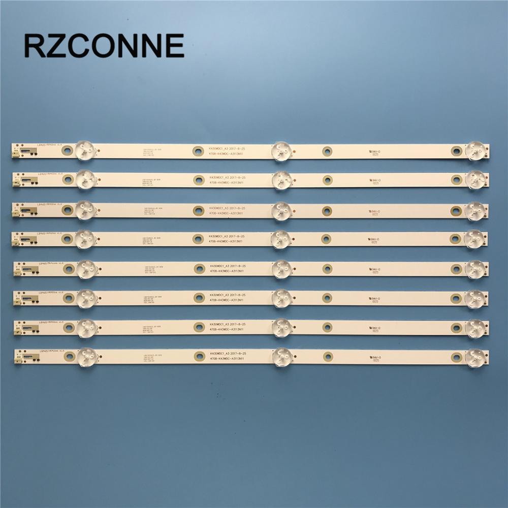 LED Backlight Strip K430WDC1_A3 4708-K430WDC-A31 For Philips 43'' 43DL4012N/62 L43E6800 43HFF5952/T3 43L1600C 43BDL4012N/62