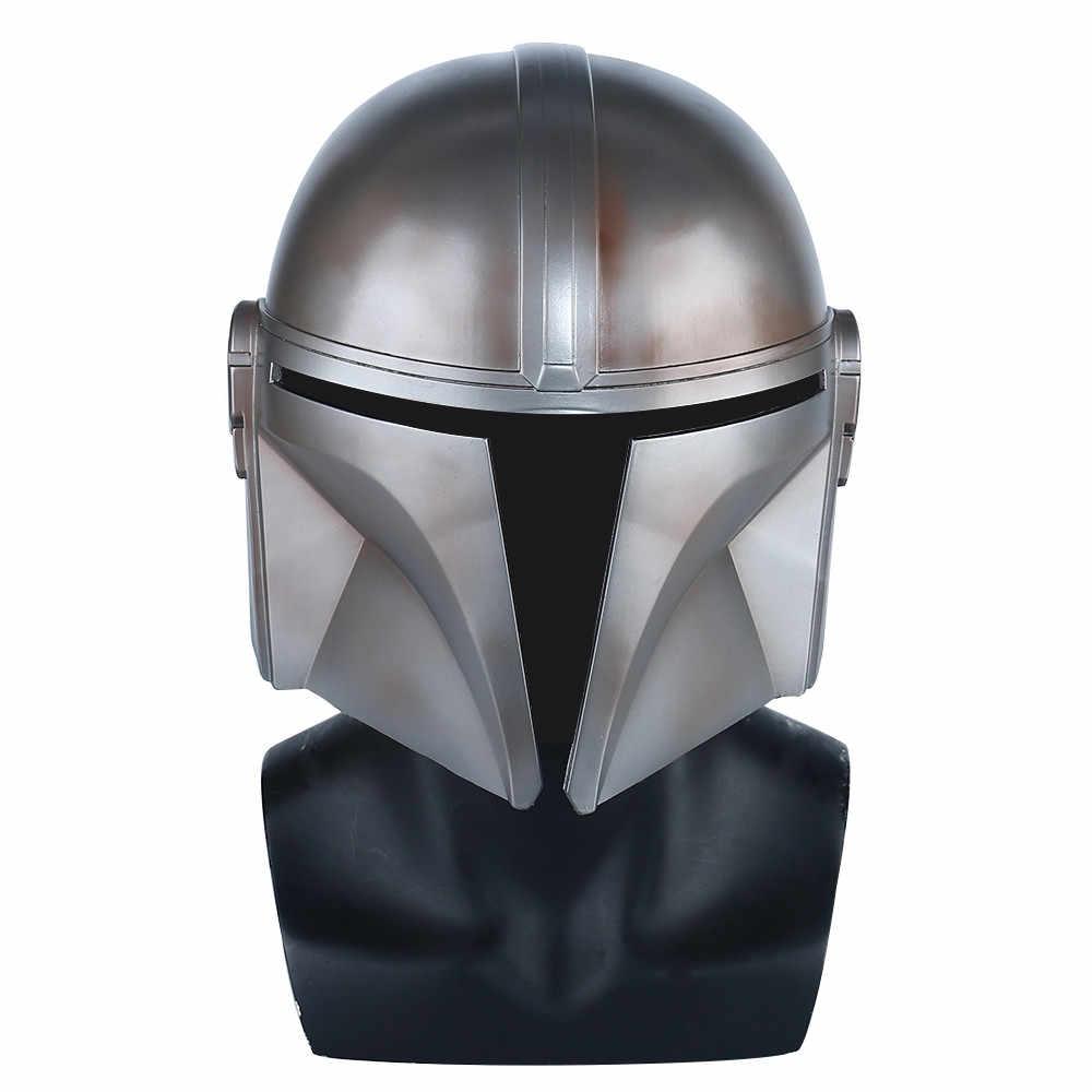 2019 o mandalorian cosplay capacete star wars mandalorian rosto cheio pvc/látex máscara capacete festa de halloween adereços
