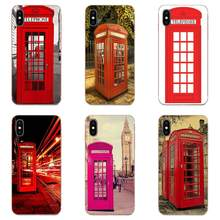 Soft TPU Hot Selling Red Telephone Booth Phone Box London For Xiaomi Redmi Note 2 3 3S 4 4A 4X 5 5A 6 6A Pro Plus(China)