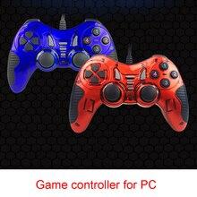 Nieuwe Vleermuis Vorm USB Wired Gamepad Game Controller PC Joystick Met Turbo Functie