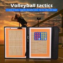 Vôlei dobrável tático placa de treinamento de voleibol placa tática treinador magnético handball táticas jogo voleibol treinamento ensinar