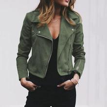 Fashion Punk Plus size women Jackets Coat Solid Color Slim F