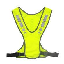 Светоотражающий жилет безопасная куртка для бега пробежек езды