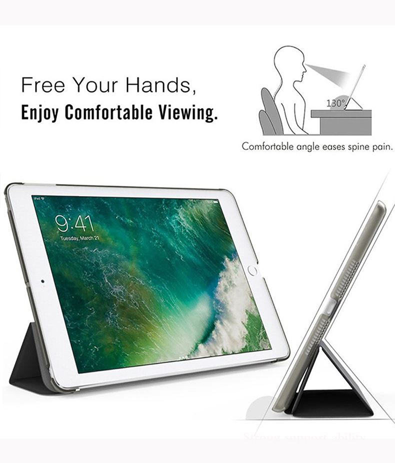 7th-Generation Smart Auto-Wake-Cover A2198 Trifold A2232 Apple for Tablet-Case iPad A2200