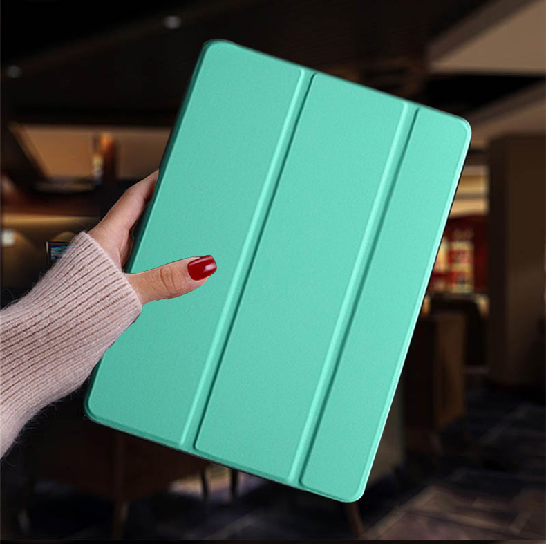 Mint Green Green Tablet case for Apple iPad 10 2 2019 iPad 7 7th Generation Flip Stand Case Trifold