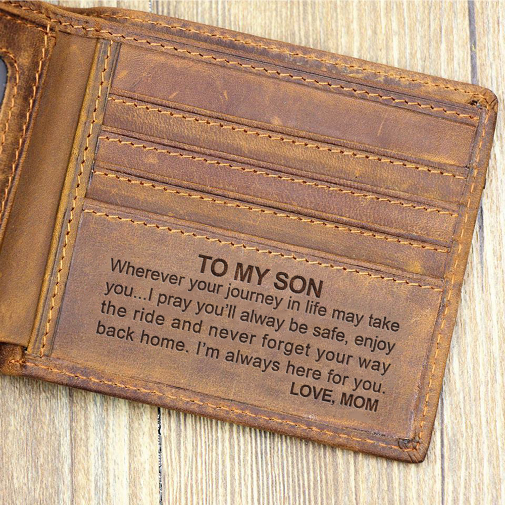 Wallets For Son Slim Mens Leather RFID Blocking Minimalist Card Front Pocket Bifold For Christmas Idea Gifts